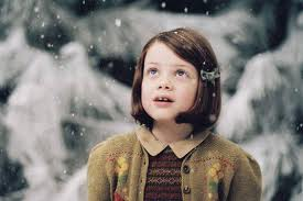 Lucy looks at the world with childlike wonder in the Chronicles of Narnia, The Lion the Witch and the Wardrobe.